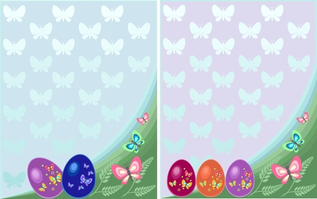 Easter postcard with eggs  Vector