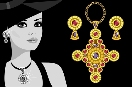 advertising jewelry   Vector
