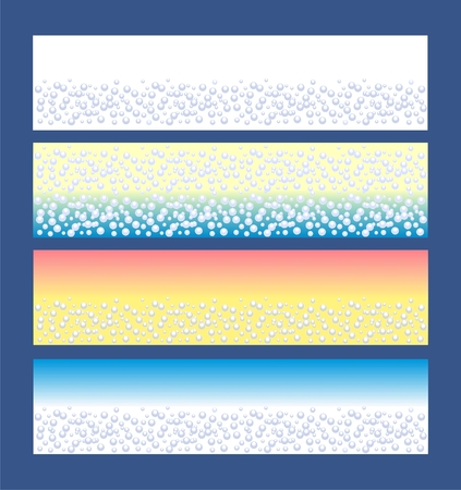 Spa banner with blue bubbles  Vector
