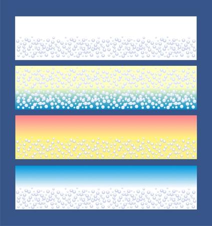 Spa Banner mit blau