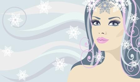 lady Winter Vector