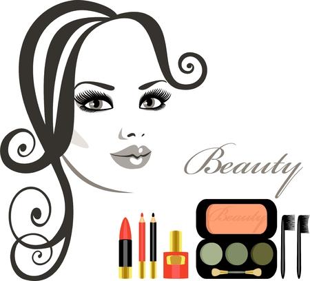 lash: makeup Illustration