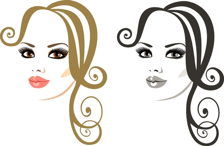 makeup and hairstyle Stock Vector - 8922618