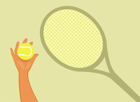 coaching: Encadrement de tennis. Illustration