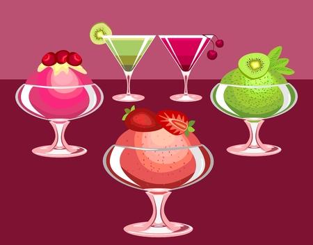 berry desserts Stock Vector - 8986028