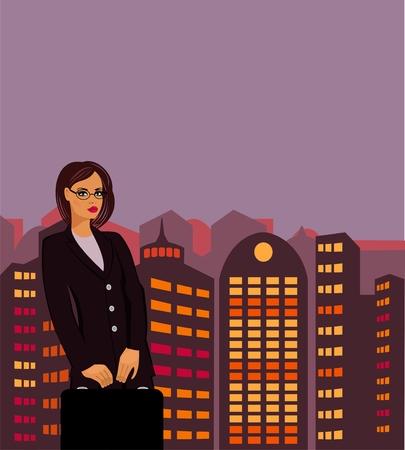businesswoman Stock Vector - 8986025