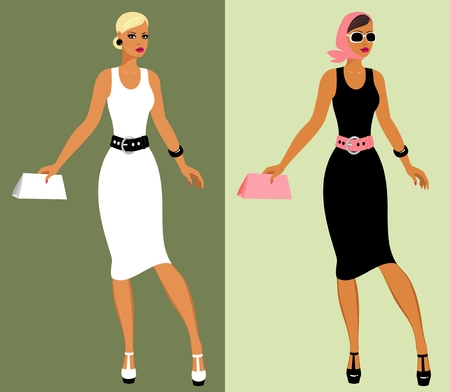 Fashion 80's of last century. Stock Vector - 8986017