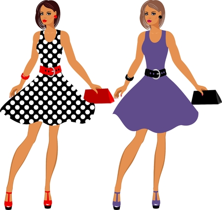 Fashion 80's of last century. Stock Vector - 8986021