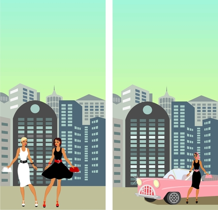 Street in the City Vector
