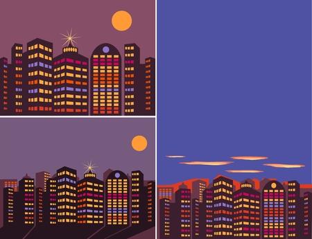 Summer night city Vector