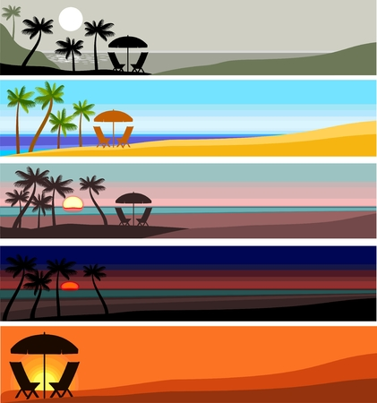 beach sunset: beach banner