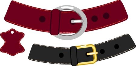 cintur�n de cuero: Cintur�n de cuero Vectores