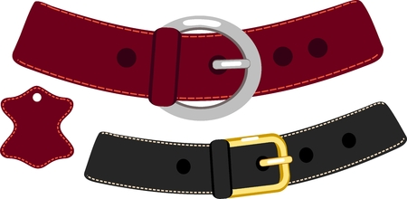 buckle: Leather belt