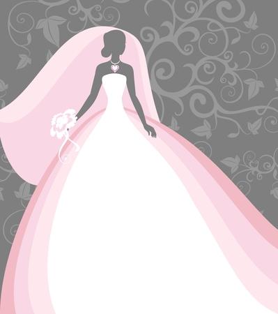 bride in a veil  Vector
