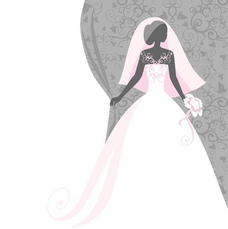 bridal hair: bride in a veil