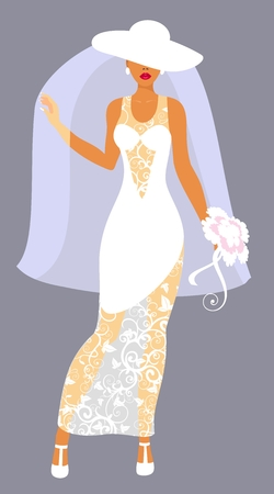 bride in a veil Stock Vector - 9090536