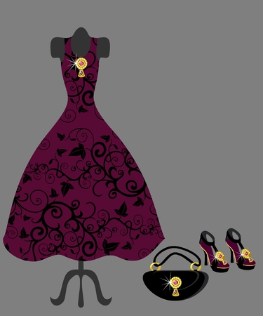 dress and accessories Vector