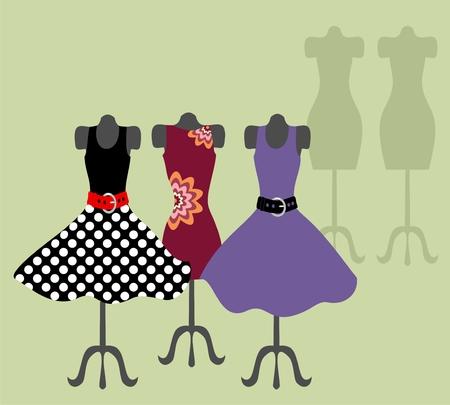 ankleiden: Dummy mit Kleid