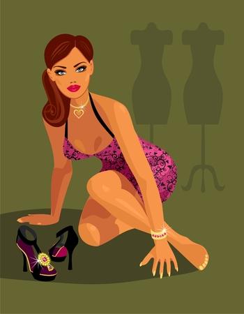 after to work: modelo de moda despu�s de trabajo