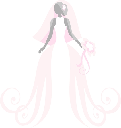 bride, isolated on white Vector