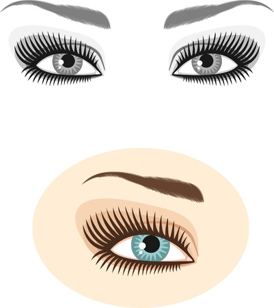 lash: eyes and eyebrows