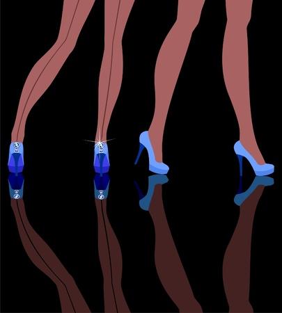 female feet in shoes