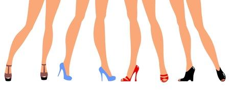 pieds sexy: pieds femelles de chaussures  Illustration
