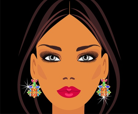 jewellery design: Lady in earrings