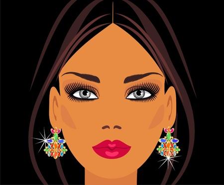 серьги: Lady in earrings