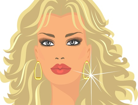 beautiful blonde Vector