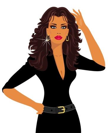 earring: brunette Illustration
