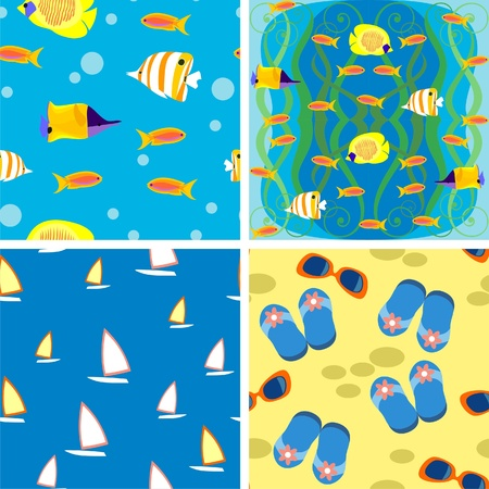marine background Vector