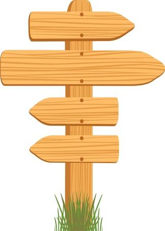 wooden sign Vectores
