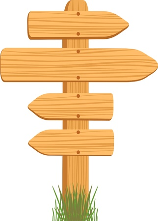 wooden sign Иллюстрация