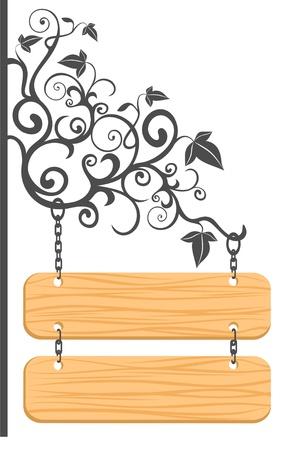 wooden sign Illustration