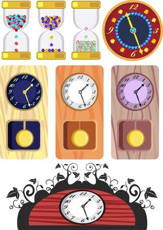 reloj de pendulo: reloj de p�ndulo antiguos, de madera diferente