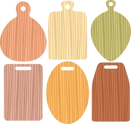 chopping boards from different wood  Vector