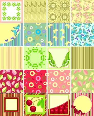 Scrapbook backgrounds  Vector