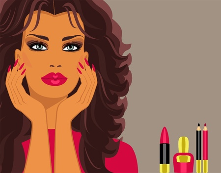 makeup cosmetiks Stock Vector - 9506500