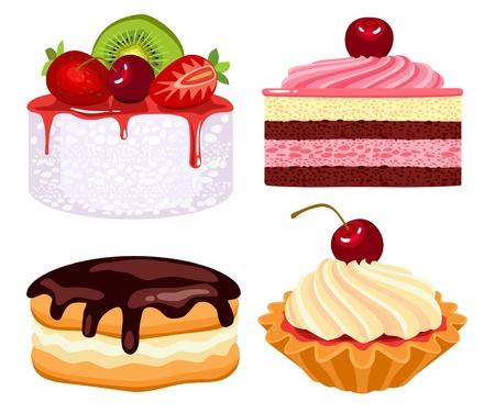 Collection de magnifiques gâteaux  Illustration