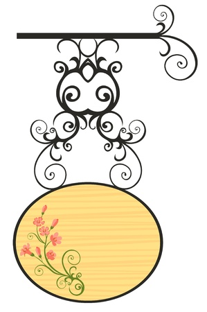 signboard form: wooden sign Illustration