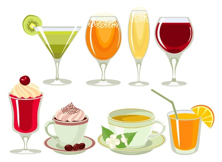 drinks-icon-set. Vectores