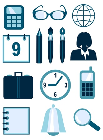 Business and office icons Stock Vector - 9721509