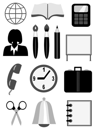 Business and office icons Stock Vector - 9721507
