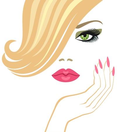 glamour  blonde    Иллюстрация