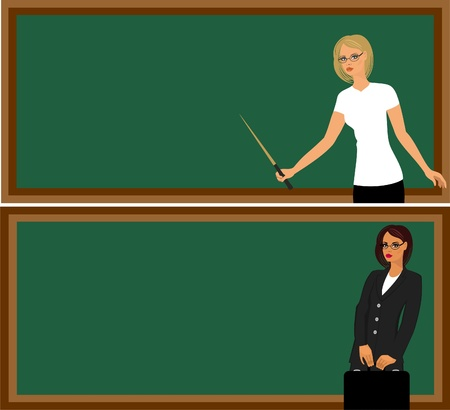 teacher  at  the  blackboard Vector
