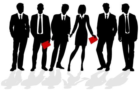 black tie: siluetas de la gente de negocios