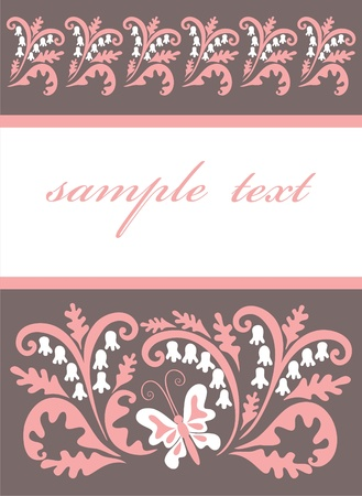 old book cover:  Abstract floral design for book and postcard