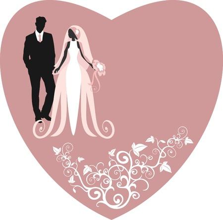 Einladungskarten mit der Braut in einem Schleier