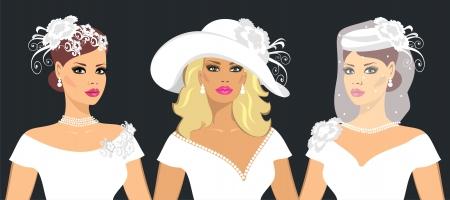 silk hat: bride
